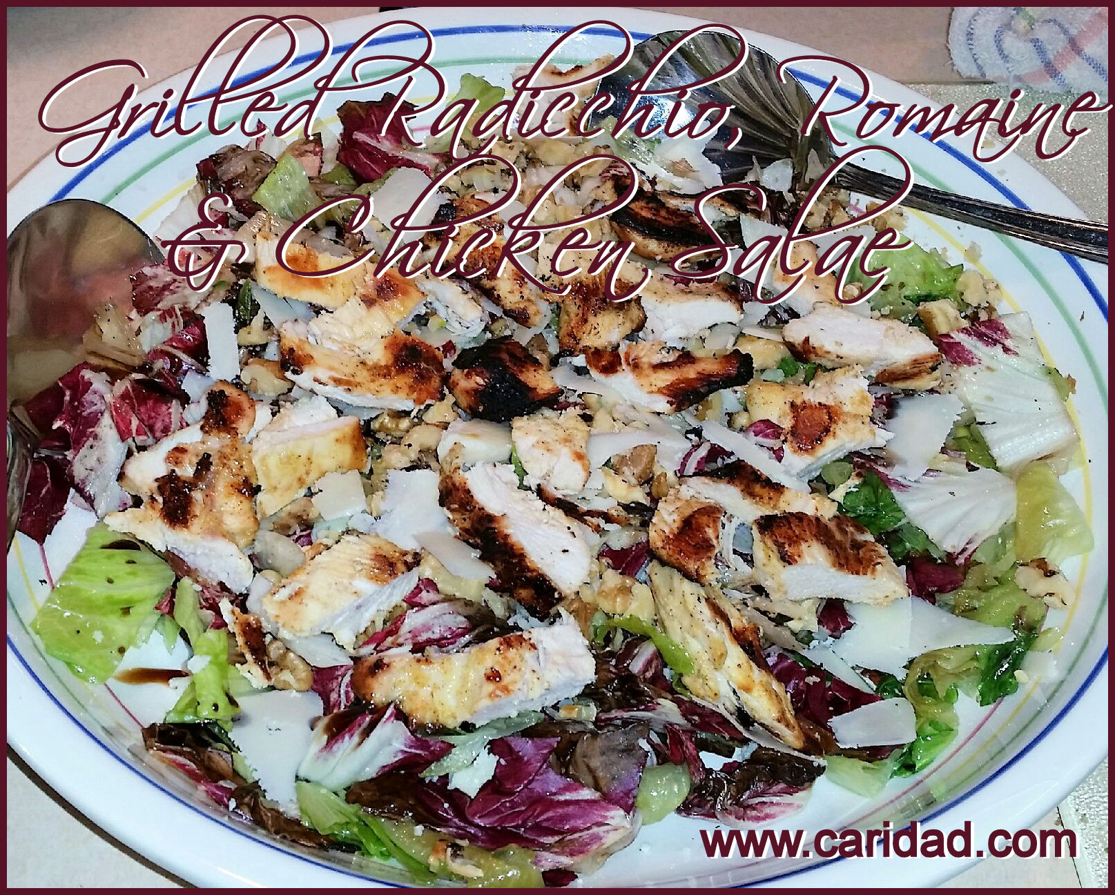Grilled Portobello And Radicchio Salad Recipe — Dishmaps