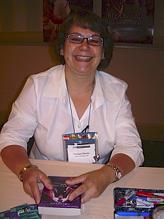 Caridad Pineiro at Harlequin Book Signing